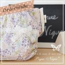 【オーダー製作】手作り布おむつカバー**Lace Ribbon*Purple Garden