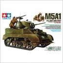 プラモデル タミヤ 1/35 アメリカ軽戦車 M5A1ヘッジホッグ 追撃作戦セット(人形4体付き)