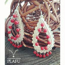 Paisley earrings-coral-