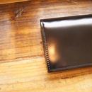 通しマチ長財布(ブラック)