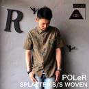 """POLeR """"SPLATTER S/S WOVEN"""" Olive"""