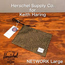 """Herschel """"NETWORK POUCH L"""" H.S.Co. for Keith Haring FN"""