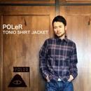 """POLeR """"TONIO SHIRT JACKET"""" Blue"""