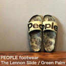 "PEOPLE footwear ""THE LENNON SLIDE"" Green Palm"