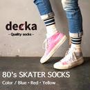 """decka """"80's SKATER SOCKS"""""""