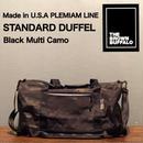 """THE BROWN BUFFALO """"STANDARD DUFFEL"""" Black Multi Camo"""