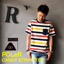 "POLeR ""CANDY STRIPE TEE"" Multi"