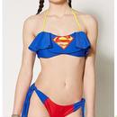 【USA直輸入】DCコミックス スーパーマン 水着 ビキニ 2ピース 上下セット ビーチ プール