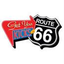 【USA直輸入】Route 66  ルート66 Get Your Kicks ファンキー チャンキー マグネット 磁石 企業物