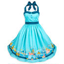 【USA直輸入】DISNEY ディズニーランド パーク アクア ドレス ワンピース ドレスショップ DRESS SHOP ディズニー Dハロ