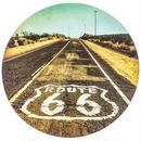 【USA直輸入】ウォールデコ ルート66 丸い キャンバス  看板