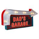 【USA直輸入】ライト ウォールデコ ブリキ看板 ダッドズ ガレージ Dad's Garage  メタルサイン ブリキ 看板  ポスター