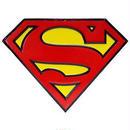 【USA直輸入】DC スーパーマン シールド ロゴ ダイカット ブリキ看板 壁掛け メタルサイン 看板 インテリア