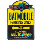 【USA直輸入】DCコミックス バットマン バットモービル パーキングオンリー ダイカット メタルサイン ウォールデコ  ブリキ看板 看板 Batmobile DC