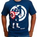 【USA直輸入】MARVEL キャプテンアメリカ アベンジャーズ シルエット Tシャツ マーベル