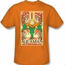 【USA直輸入】DC アクアマン オレンジ Tシャツ ジャスティスリーグ DCコミックス