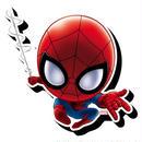 【USA直輸入】MARVEL スパイダーマン チビ ファンキー チャンキー マグネット 磁石 マーベル Spiderman