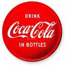 【USA直輸入】CocaCola コカコーラ 丸形 ドリンク コカコーラ イン ボトルズ マグネット ロゴ 磁石 企業 アドバタイジング