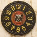 【ROUTE66 RTE TIN CLOCK】ルート66 レトロ調 ★ ルート66 ティンプレート★クロック★