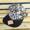 【USA直輸入】フラット キャップ マーベル ロゴ 総柄 帽子 ハット MARVEL