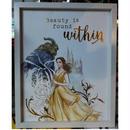 【USA直輸入】DISNEY 美女と野獣 実写版 美しさは人の内にある 木製 ウォールサイン 看板 ポスター ベル