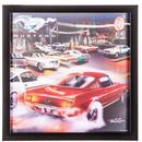 【USA直輸入】3D レンチキュラー マスタング MUSTANG  フレーム付き ウォールデコ 看板   ポスター  Route 66 アメ車 GAS