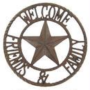 【USA直輸入】メタル ウォールデコ Welcome Friends&Family ウェルカム メタルサイン ブリキ看板   看板