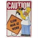 【USA直輸入】シンプソンズ ブリキ看板 ホーマー スローマン 壁掛け メタルサイン 看板 インテリア The Simpsons