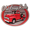 【USA直輸入】ウォールデコ ブリキ看板 Old Guys Rule オールド ガイズ ルール メタルサイン ブリキ 看板  ポスター