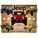 【USA直輸入】ブリキ看板 Jeep コラージュ ダイカット メタルサイン ブリキ 看板  ジープ 車