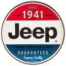 【USA直輸入】ブリキ看板 Jeep ジープ 丸型 SINCE1941 メタルサイン ブリキ 看板  企業 ブリキ看板 ポスター