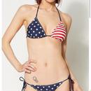 【USA直輸入】アメリカ 国旗 星条旗 ビキニ 水着 2ピース 上下セット スイムウェア ビーチ プール