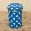 ハンガリー ポップな水玉の丸缶 直径7.5cm