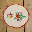 ハンガリー カロチャ刺繍 クロス 2つの花束