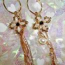 Mysterious Cross Pearl Earrings
