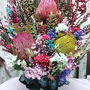 いつかは飾りたい大きなアレンジメント☆メッセージをお伺いして制作☆陶器ポットのアレンジメント・お祝いブライダルにも最適!! 珍しいオーストラリア・プリザ