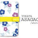 手帳型ケース ASAGAO/White