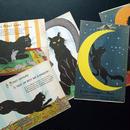 フランス◆月と黒猫◆アンティークポストカード