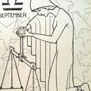 Joseph Speybrouck 1928☆9月てんびん座☆アンティークポストカード