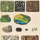 1878年鉱物画③<ドイツ>◆ アンティーク・クロモリトグラフ