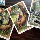 ◆オオカミと7匹の子ヤギ◆ドイツアンティークポストカード3枚セット