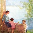 ◆M.W.Tarrant 穏やかな春のひととき◆アンティークポストカード