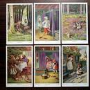 ◆赤ずきんちゃん◆ドイツアンティークポストカード6枚セット