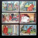 ◆ドイツ 童話クロモス6枚セット◆ カエルの王様