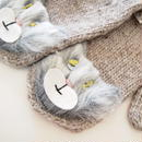 Brooklyn Handknit 猫のアップリケミトン/手袋