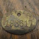 Vintage Brass Tag :No.193617