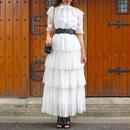 【SPRING SUMMER COLLECTION】ラメシースルードレス インナー&リボン付き ブラック ホワイト