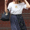 DIOR ロゴ刺繍Tシャツ ホワイト