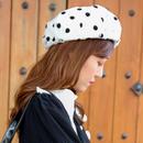 【SPRING SUMMER COLLECTION】ドットシースルーベレー帽 ホワイト