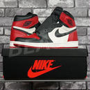 NIKE AIR JORDAN 1 RETRO HIGH OG BRED TOE 555088-610 US9 ナイキ エアジョーダン つま赤